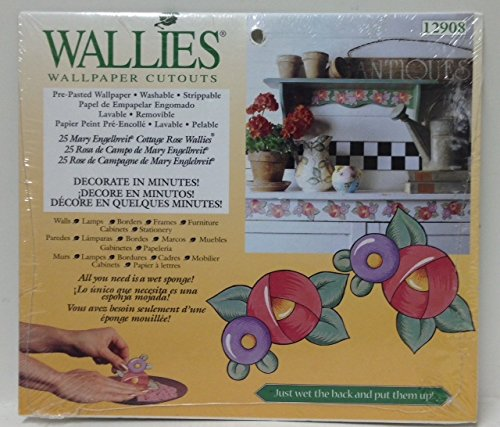 25-Mary Engelbreit Cottage Rose-WALLIES Wallpaper Cutouts-12908