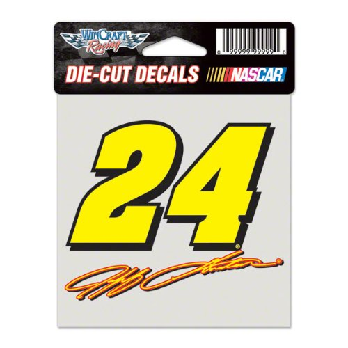 Jeff Gordon Stocking (NASCAR Jeff Gordon Perfect Cut Color Decal, 4
