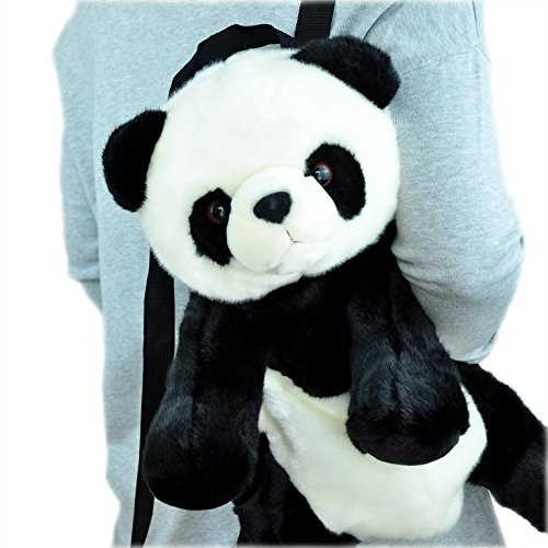 PANDALA Super Soft Panda Bear Plush Animal Backpack with Zipper – Cute Outdoor Bags for Teen Girls Boys – Unique Gift Ideas for Kids Women Men – 17''(Large) -