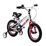 RoyalBaby Space No. 1 Aluminum Kid's Bikes, Boy's Bike and Girl's Bicycles, Gift for Kids, 18 inch wheels, Silver