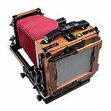 eTone 2.4kg New HZX45-IIA Shen Hao Walnut Wood Copper Field Folding 4X5'' Large Format Camera