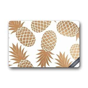 seasidess Custom piña frutas Felpudo cubierta alfombra al aire libre interior piso Mats antideslizante se puede lavar a máquina. Decor–alfombrilla de baño
