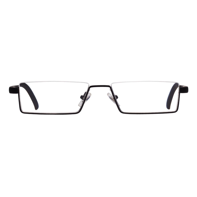 Liansan 3-Pack Fashion Designer Gafas de Lectura Hombre Mujer HALF Marco plegable plegable gafas de lectura 1.0 1.5 2.0 2.5 3.0 3.5 4.0 con funda ...