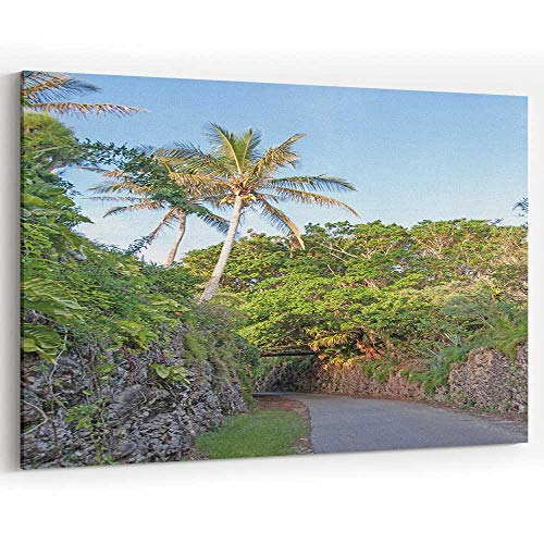 Actorstion Section of The Railway Trail in Bermuda Canvas Art Wall Dcor,078693 36