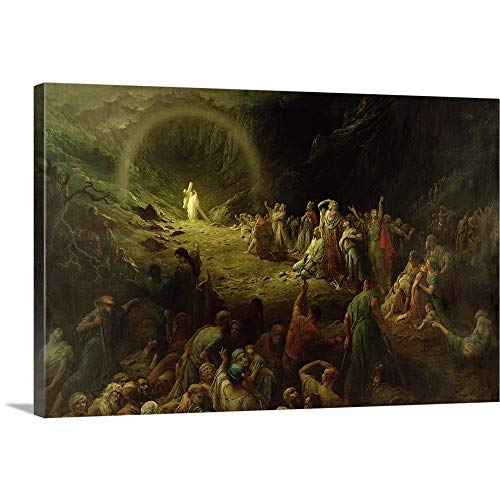 Gustave Dore Premium Thick-Wrap Canvas Wall Art Print entitled The Valley of Tears, 1883 24