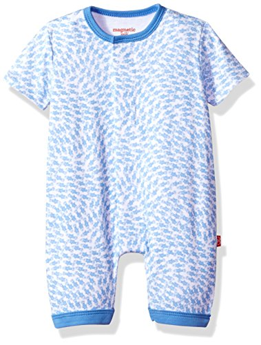 Magnetic Me by Magnificent Baby Baby Boys' School Fish Romper 18117, Blue, 12M