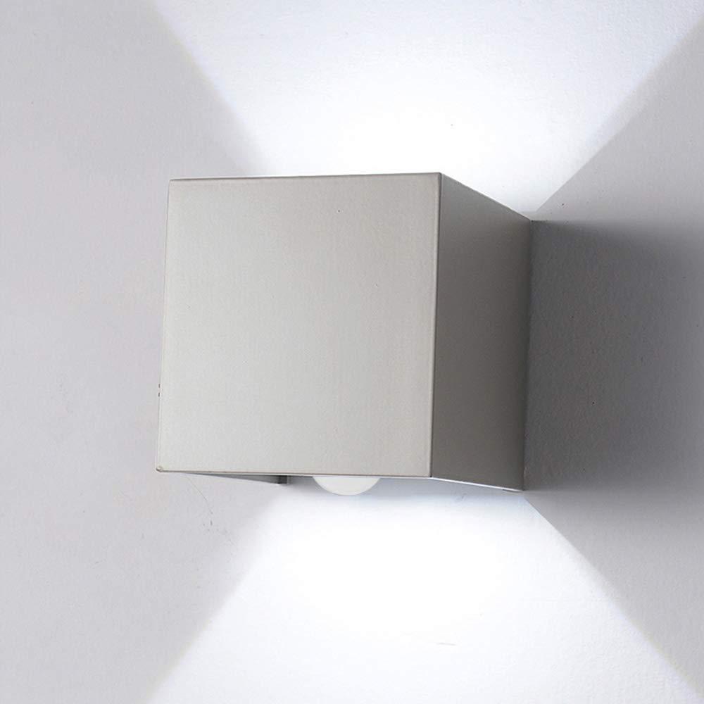 Elitlife Aussenleuchte Wandleuchte mit Bewegungsmelder 7W Wandlampe Terras Garage (Weiß , Warmweiß )