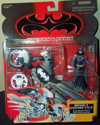 Batman & Robin Batgirl's Icestrike Cycle Action Figure]()
