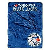 MLB Toronto Blue Jays Triple Play Micro Raschel Throw Blanket, 46x60-Inch