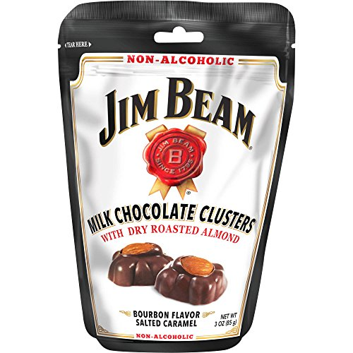 Jim Beam Milk Chocolate and Almonds Bourbon Flavor Salted Caramel Clusters 3oz Bag