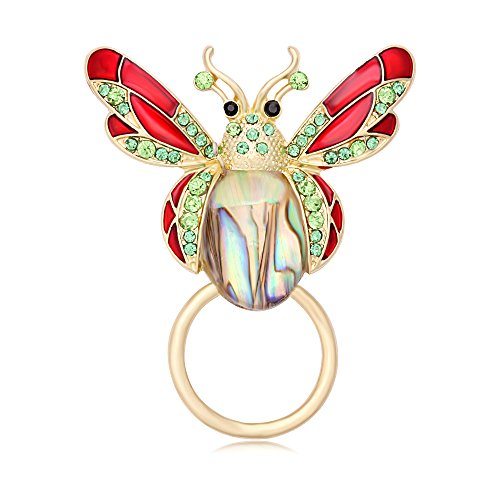BEICHUANG Pretty Abalone Insect Bee Fly Brooch Colorful Crystal Butterfly Sunglass Eyeglass - Sunglasses Bee Gold