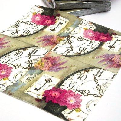 2-x-decoupage-paper-napkins-cypress-home-33x33cm-3-ply-vintage-napkin-for-decoupage-clock-flower-pap