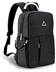 Forspark Camera Backpack with USB Charging Port, Anti-Shock DSLR Backpack - Multi-Function for Laptops Tablets Canon Nikon Camera Accessories Bag with Waterproof Rain Cover