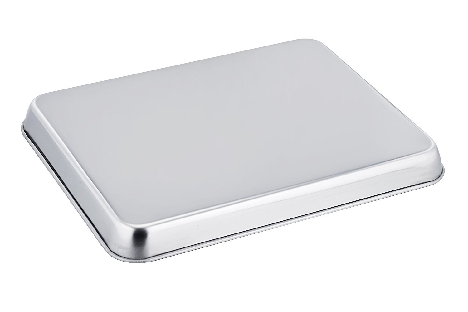 2pack Baking Sheet Cookie Sheets,Pure Stainless Steel Commercial Baking Sheets,Baking Pan Tray&Toaster Oven Sheets,Non Toxic & Healthy & Dishwasher Safe