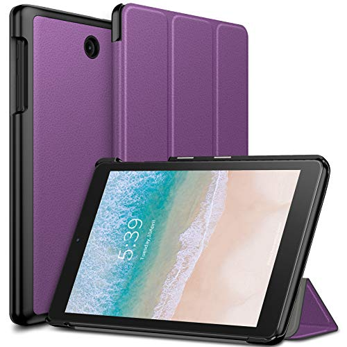Infiland T-Mobile Alcatel 3T 8 Tablet Case, Tri-Fold Cover Compatible with T-Mobile Alcatel 3T 8 inch Tablet 2018 Release, Purple