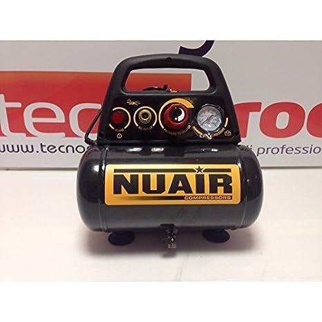 Nuair M126652 - Compresor de piston sin aceite new vento om195 1 5 hp: Amazon.es: Bricolaje y herramientas