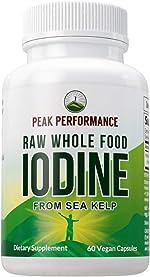 Raw Whole Food Iodine from Organic Kelp (Ascophyllum Nodosum) by Peak