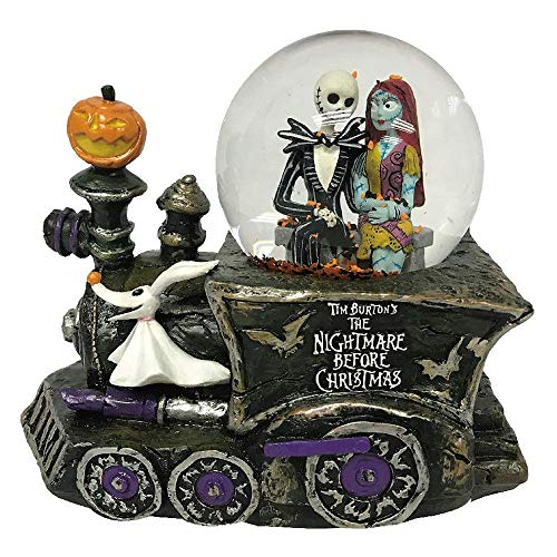 The Nightmare Before Christmas Jack Skellington, Sally and Zero Light Up and Musical Waterglobe]()