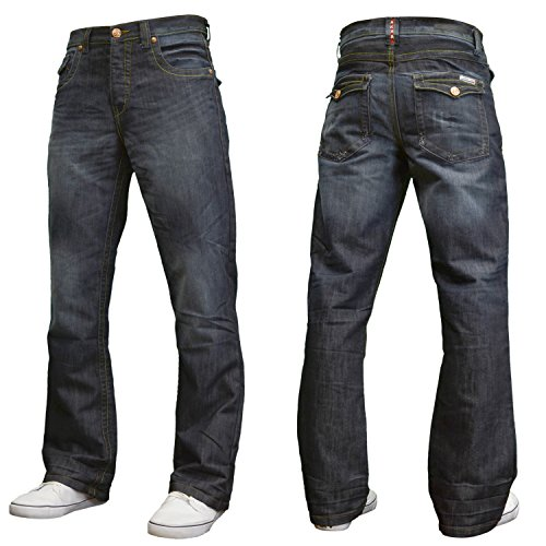 "APT Mens Designer Branded Basics Regular Fit Bootcut Jeans, 28""-48"""