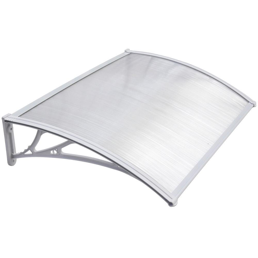 Popamazing Outdoor Cover Door Window Garden Canopy Patio Porch Awning Shelter - Multiple Size & Colour (White, 120 * 70cm)