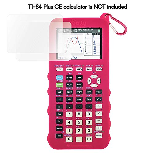 Sully Silicone Case for Ti 84 Plus CE Calculator (Pink) - Cover for Texas Instruments Ti-84 Graphing Calculator - Silicon Skin for Ti84 Plus - Protective Cases - Ti 84 Accessories by Sully