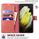 Perkie Vintage Series, Faux Leather Wallet Flip Case Kick Stand Magnetic Closure Flip Cover for Redmi 9 Power (Cherry)