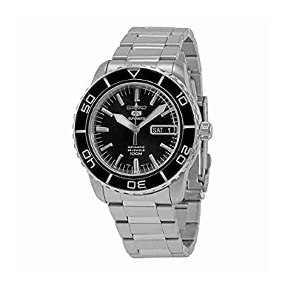 Seiko 5 SNZH55 Automatic Black Dial Stainless Steel Mens Watch by Seiko