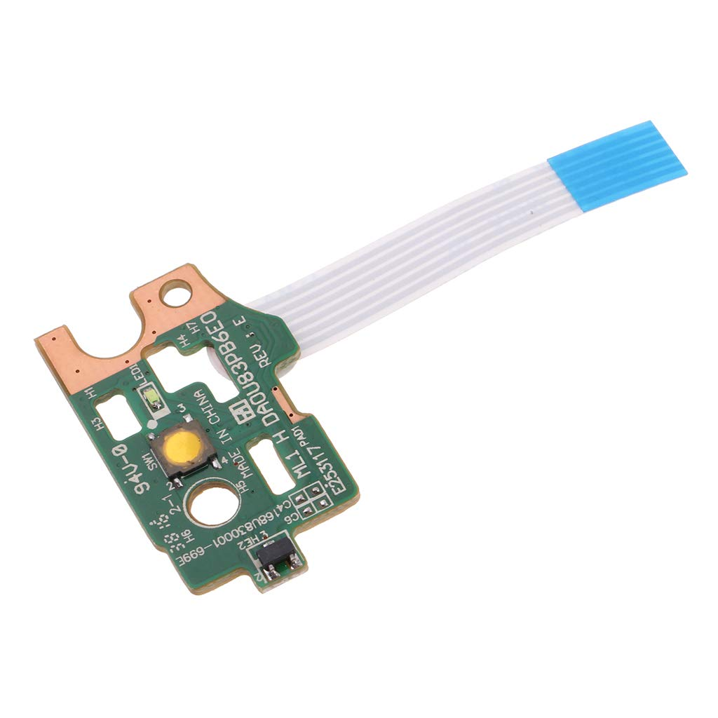 P Prettyia Power Button Board Switch w//Flex Cable Replacement for HP Pavilion 14-N 15-N Series Laptop DA0U83PB6E0 Pack of 1
