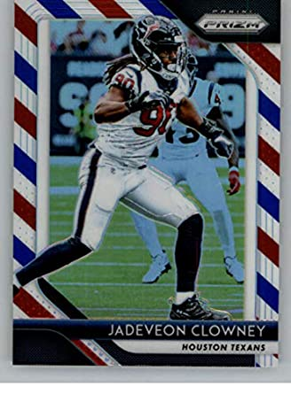 Amazon.com  2018 Panini Prizm Prizm Red White and Blue Football  123 Jadeveon  Clowney Houston Texans Official NFL Trading Card Exclusive Parallel From  Fat ... 2400865f1