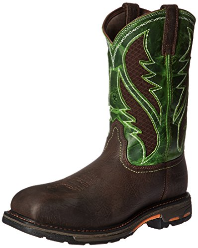 (Ariat Work Men's Workhog Venttek Composite Toe Work Boot, Bruin Brown/Grass Green, 10 D US)