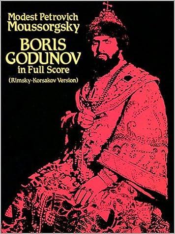 Book Boris Godunov in Full Score (Rimsky-Korsakov Version)