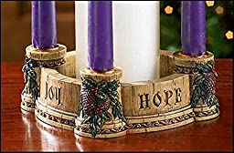 Joy, Faith, Love, Hope Advent Wreath Candle Holder (Single Unit/NC726)
