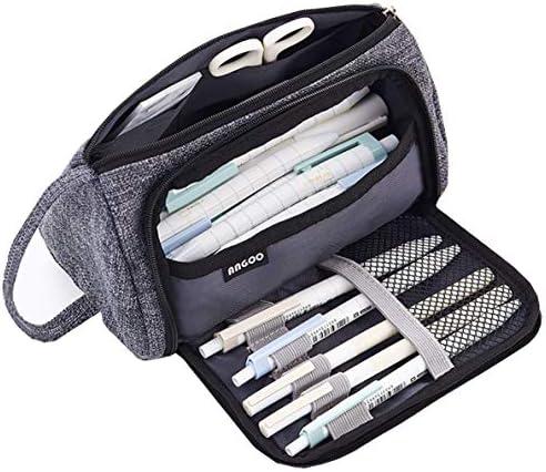 NEALLE - Estuche para lápices de gran capacidad para adolescentes y niños, color gris: Amazon.es: Oficina y papelería