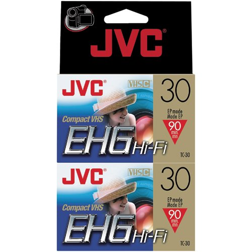 JVC Tc30Ehgdu2 30-Minute Vhs-C Video Tape (2-Pk) (Discontinued by Manufacturer) by JVC