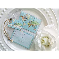 30 World Map Luggage Tags Aqua sea 1.50 ea.
