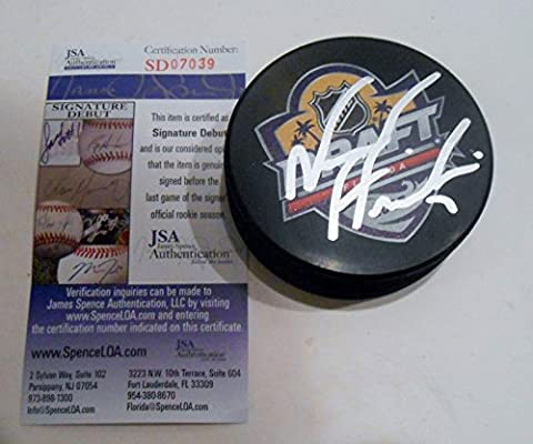 d434e83c9 Noah Hanifin Signed 2015 NHL Draft Hockey Puck w COA Hurricanes - JSA  Certified - College Autographed Miscellaneous Items at Amazon s Sports  Collectibles ...