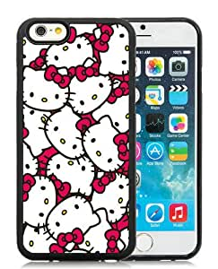 Hello Kitty 58 Black Custom Phone Shell iPhone 6 4.7 Inch Silicone TPU Case Cool Design