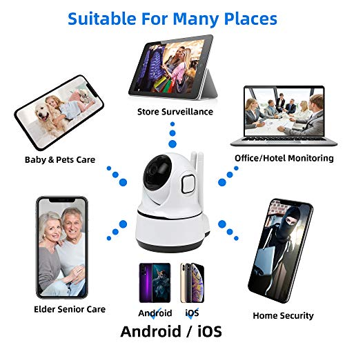 Wireless Security Camera Indoor -Wuwei Dome Surveillance Camera, 1080P HD PTZ WiFi Home Camera with Smart Motion Tracking,Night Vision,2-Way Audio 360°Baby Monitor Pet Cam