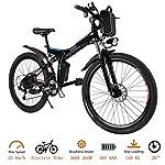 514ECZZaZFL. SS150 Oppikle bicicletta elettrica Bicicletta Elettrica Pieghevole 250W Bici Elettriche con Sistema di Cambio a 21 velocità,Batteria agli Ioni di Litio 36 V, City Bike Leggero da 26 Pollici