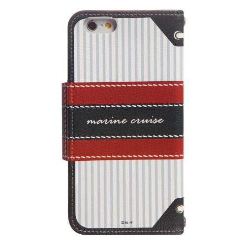 Mr.H Marine Special Designer Leather Bow Type Cruise Diary Case for iPhone 6 (White)