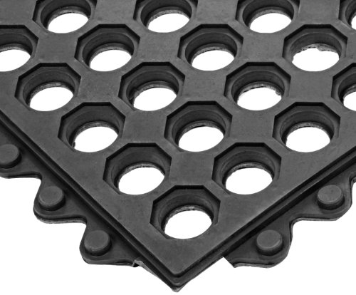 NoTrax T32 General Purpose Rubber Safety/Anti-Fatigue Ultra Mat, for Wet Areas, 3' Width x 5' Length x 1/2