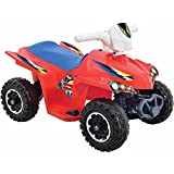 6-Volt Battery Powered Wheels Kids Electric Ride On Quad Toys for Boys with AC Charger