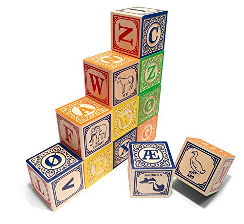Uncle Goose Norwegian ABC Blocks - Made in USA by Uncle Goose