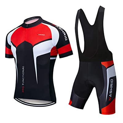 Men/'s Cycling Jersey Shorts Set Bike Padded Pants Quick dry Cycle Shirt Clothing
