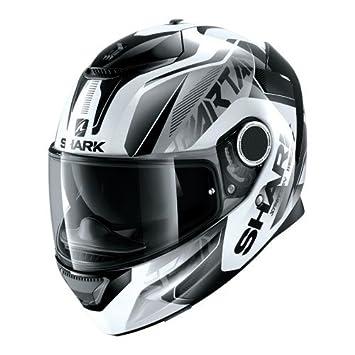 Shark - Casco de moto Spartan karken WKK en color negro y blanco - Talla S