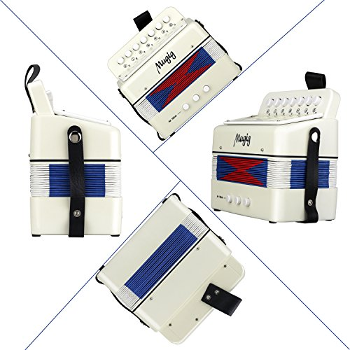 Mugig Accordion Kids Toy Accordion, Sound Toys Ten Keys Solo and Ensemble Instrument, Musical Instrument for Early Childhood Teaching - Image 6