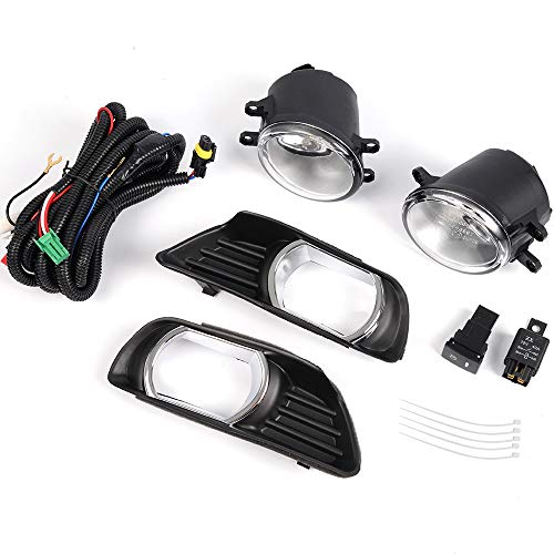 For 2007-2009 Toyota Camry Fog Lights Headlights Front Bumpes Lamp Clear Lens COMPLETE KIT ()