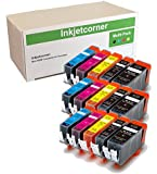 Inkjetcorner 15 Pack Compatible Ink Cartridges Replacement for Series MG5620 MG5622 MG6620 MG6600 MX920 iX6820 (3 Large Black 3 Small Black 3 Cyan 3 Magenta 3 Yellow)