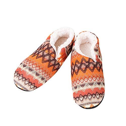 Fleece Orange Femme 1 Noël Chaudes Anti Hiver Chaussures Pantoufles Souples Confortable Vertvie dérapant ulFK1cJT3