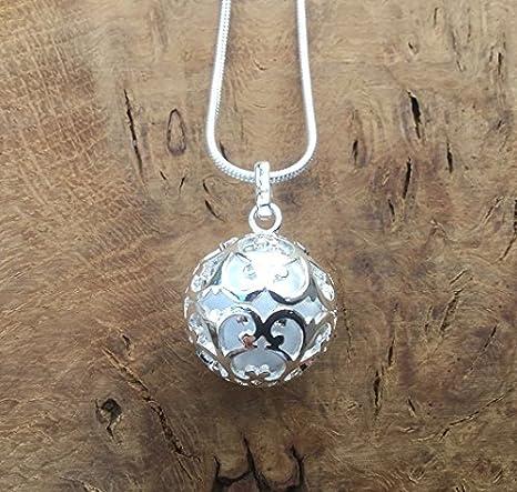 Jaula redonda de encaje de plata con bola blanca l Harmony ...